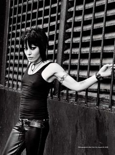 Joan Jett. She is so kickin bad ass! The first true rock and roll chick.