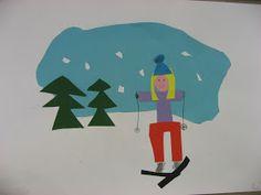 Cash and kuvis: january 2010 Winter Art Projects, School Art Projects, Winter Christmas, Christmas Crafts, 2nd Grade Art, 3 Arts, Human Art, Art Classroom, Winter Scenes