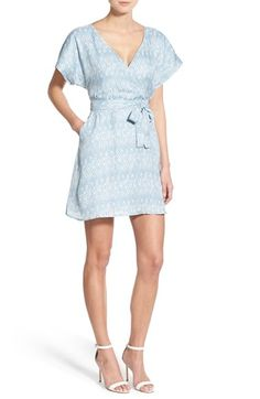 cupcakes and cashmere 'Ariel' Print Wrap Dress