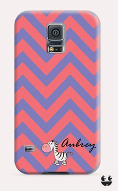 Zebra Chevron Name Monogram Galaxy Samsung S5, Galaxy Samsung S4, Galaxy Samsung S3