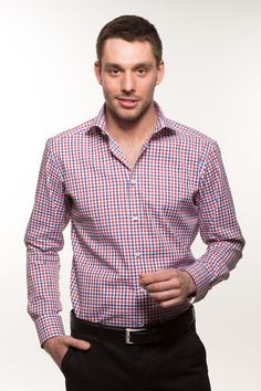 Mens Shirts. Beverley Red