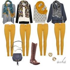Trendy how to wear yellow pants fun ideas Trendy how to wear yellow pants fun ideas Mustard Jeans Outfit, Yellow Jeans Outfit, Colored Jeans Outfits, Mustard Yellow Outfit, Mustard Pants, Colored Pants, Fall Fashion Outfits, Casual Fall Outfits, Mode Outfits