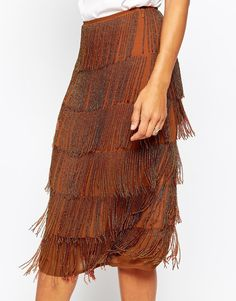Skirt with Beads Tassels