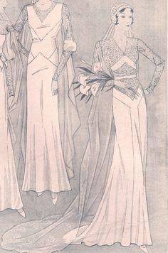 vestido novia vintage años 30