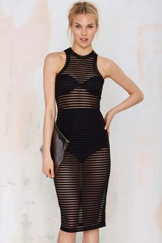Nasty Gal Ain't Seen Nothin' Yet Sheer Tank Dress