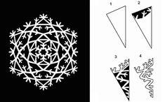 Вырезаем снежинки к Новому году - Ярмарка Мастеров - ручная работа, handmade