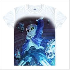 Undertale Papyrus and Sans posing Evil Villains Skull Tee T-Shirt Unisex Adult