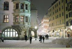 Schnee auf dem Platzl, Altstadt München, Hofbräuhaus