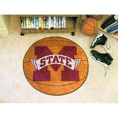 Mississippi State Bulldogs NCAA Basketball Round Floor Mat (29)