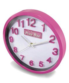Look at this Pink Wall Clock on #zulily today!