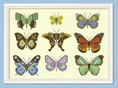 Cross-stitch butterflies $12.50