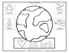 Earth Day Preschool Scavenger Hunt PDF // Homeschool