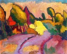 Landscape Alexei Jawlensky - circa 1911DER