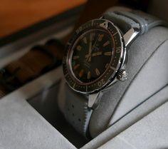 1963 Enicar Divette with titanium coloured outer bezel