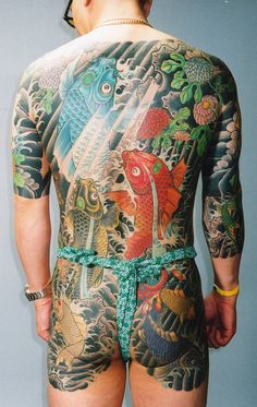 "Traditional Japanese ""suit"" by Horisei from Yokohama Japan at Rising Dragon Tattoos NYC"