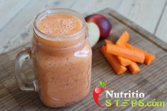 AMAZING APPLE PEACH/NECTARINE AND CARROT SMOOTHIE
