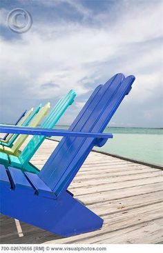 colourful adirondack chairs