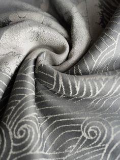 Oscha Okinami Slate Wrap (wool, cashmere, silk) - About Wrap Baby Wraps, Slate, Cashmere, Silk, Wool, Abstract, Artwork, Summary, Chalkboard
