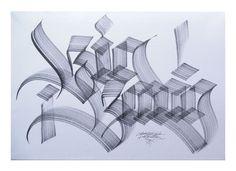 Diverse Calligraphy pieces by Gabriel Martínez Meave
