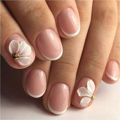 French manicure ideas 2020 French nail art Hardware nails Ideas of gentle nails modeling nails Nails with acrylic powder Party nails Pastel nail designs French Nail Art, French Tip Nails, Short French Nails, Nagellack Design, Bride Nails, Short Nails Art, Hot Nails, Manicure And Pedicure, Manicure Ideas
