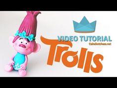 How to make Poppy from Dreamworks Trolls - Cake Decorating Tutorial - YouTube