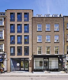 Architecture firm Feilden Clegg Bradley Studios have refurbished a listed Soho building for Condé Nast College of Fashion and Design. Building Exterior, Building Facade, Building Design, New York Architecture, Architecture Design, Facade Design, Exterior Design, Brick Detail, Modern Condo