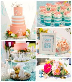 Glam Mermaid themed birthday party with Lots of Really Cute Ideas via Kara's Party Ideas | Cakes, favors, printables, games, and more! KarasPartyIdeas.com #mermaidparty #mermaids #underthesea #partystyling #partydecor #eventplanning (2)