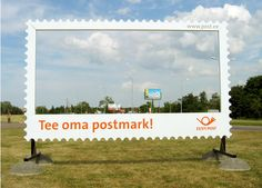 Estonia Postal Service guerilla marketing billboard promoting DIY custom stamps }-> repinned by www.BlickeDeeler.de