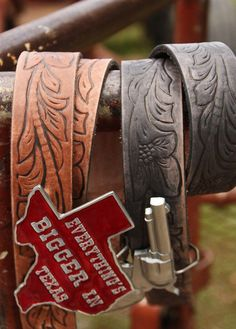 TOOLED WESTERN LEATHER BELT - Junk GYpSy co.