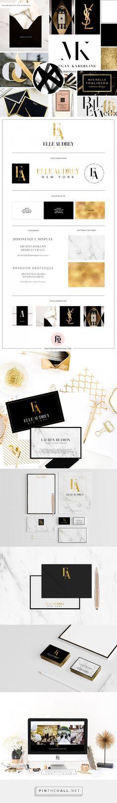 Brand Identity Design for Elle Audrey New York | Fancy Girl Designs - created via https://pinthemall.net