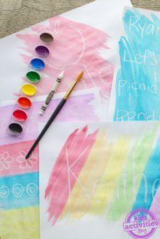 Kids Crayon Resist Art {SO COOL!}
