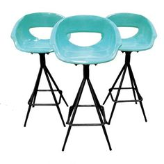 Aqua Bar Stools Trio - boy would I love a set of 6 of these for the poolside bar.
