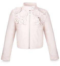 BABY DIOR - Porcelain silk satin dress with a rose print