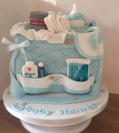 Diaper Bag Cake, 10 Birthday Cake, Baby Shower Cakes For Boys, Babyshower, Biscuits, Baby Boy, Cupcakes, Bags, Instagram