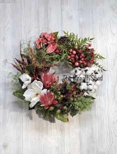 Ships Free, Cotton Wreath, Preserved Cotton, Farmhouse Decor, 2nd Anniversary Gift, Magnolia Decor, Natural Cotton Bolls, Country Wreaths