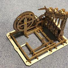 Puzzle en bois 3D Maquette DIY Puzzle mecanique Mecapuzzle DIY  Loisirs créatifs Idée cadeau Puzzle Puzzle, 3d, Basket, Creative Crafts, Gift Ideas, Puzzles, Puzzle Games, Riddles