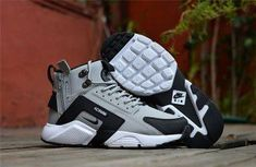 quality design b293e 29647 New NIke Huarache X Acronym City MID Leather Winter Men s Shockproof Warm  Sports Shoes Grey   Black