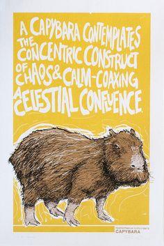 Capybara Animal Alphabet Print by corvidopolis on Etsy