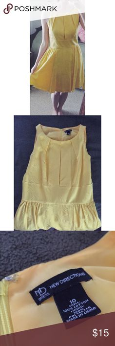 New Directions Yellow Dress Brighten your day with this dress ☀️ - Excellent condition - Knee length - zips in the back. new directions Dresses