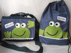 Kindergartentasche + Turnbeutel mit Namen