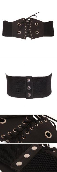 cc2fd7ded61d4 Woman belts for dress corset waist belt bandage black vintage elastic  stretch wide belts for women