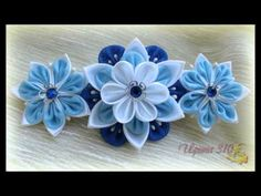 КПАСИВАЯ ПОДБОРКА ▶ Канзаши. Flowers.Цветы из ткани. - YouTube