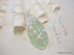 Entwined sea glass