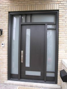 Amazing Modern Entry Doors With Sidelights In Front Door Prepare 6 Entry Door With Sidelights, Front Door Entrance, Glass Front Door, Entry Doors, Glass Door, Modern Entry Door, Modern Exterior Doors, Contemporary Front Doors, Doors And Floors