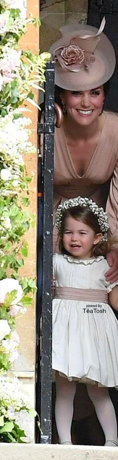 ❇Téa Tosh❇ Duchess Catherine & Princess Charlotte, at Auntie Pippa's Wedding… May 2017 Princess Kate Middleton, Kate Middleton Prince William, Prince William And Kate, William Kate, Catherine Princess, Princess Charlotte, Princess Diana, Middleton Family, Pippa Middleton