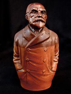 Spirit flask of John Burns, Docks Union Leader, Doulton Pottery 1910
