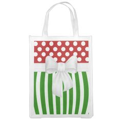 Christmas Holiday Festive MONOGRAM Foldable, Reusable Grocery Bag. http://www.zazzle.com/christmas_holiday_festive_monogram_initials-256275336186238887?rf=238575087705003771 #stockingstuffer #christmas #gift