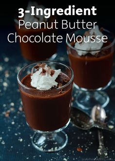 You'll never guess the 3 simple ingredients you need to create this Peanut Butter Mousse recipe that's perfect for outdoor parties or your next birthday celebration!