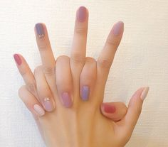 42 classy ideas how to do ombre nails designs page 36 Love Nails, How To Do Nails, Pretty Nails, My Nails, Korean Nails, Korean Nail Art, Ombre Nail Designs, Minimalist Nails, Cute Nail Art
