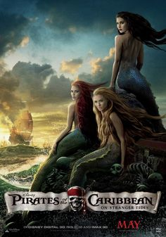 On strangers tides, I'm deathly afraid of mermaids so this movie night didn't go so well for me